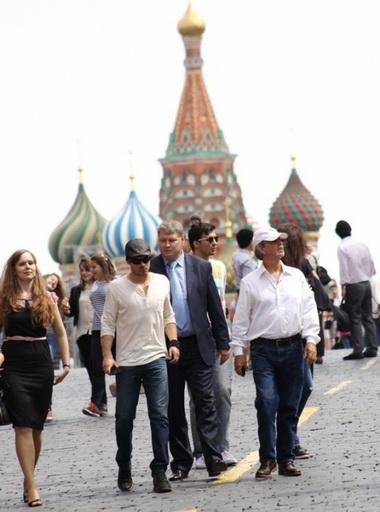 Йен Сомерхолдер в Москве